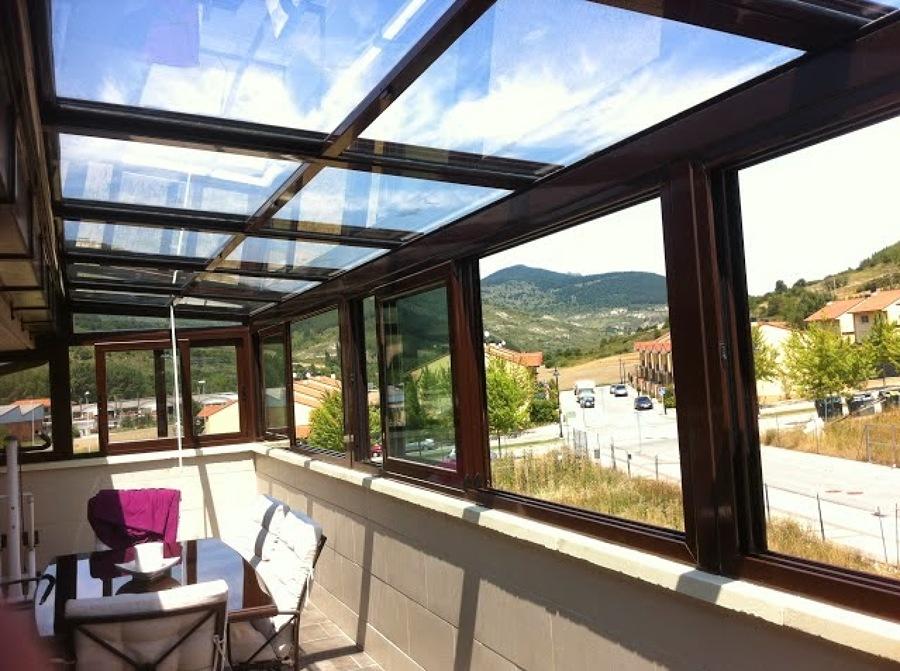Cerrar terraza tico techo fijo puerta y ventanal los - Como cerrar terraza ...