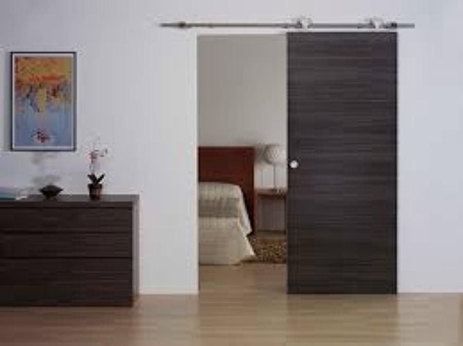 Puerta corredera para mi wc no empotrada de madera o - Casas de madera alcorcon ...