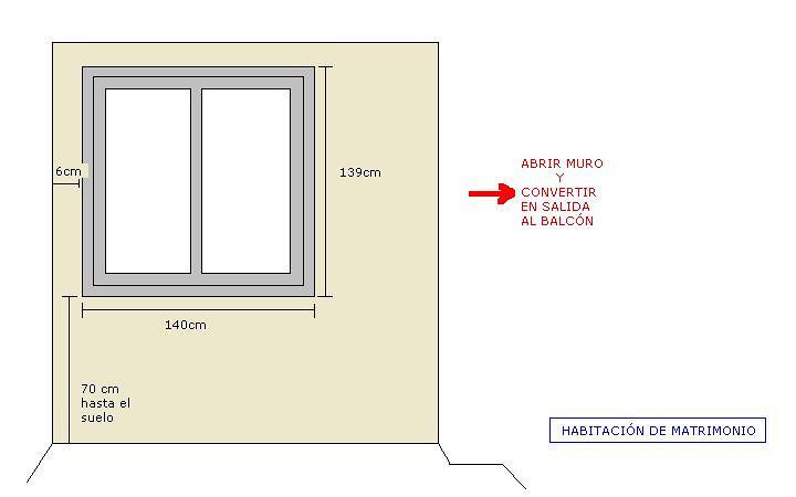 cambiar ventanas de 2 habitaciones requiere tambi n de