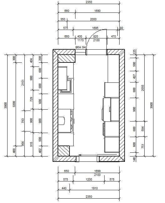 medidas de muebles de cocina industrial