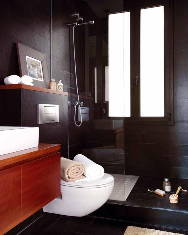 """Baños Con Ducha Negra:Reforma integral de baño """"open concept"""" – Madrid (Madrid"""