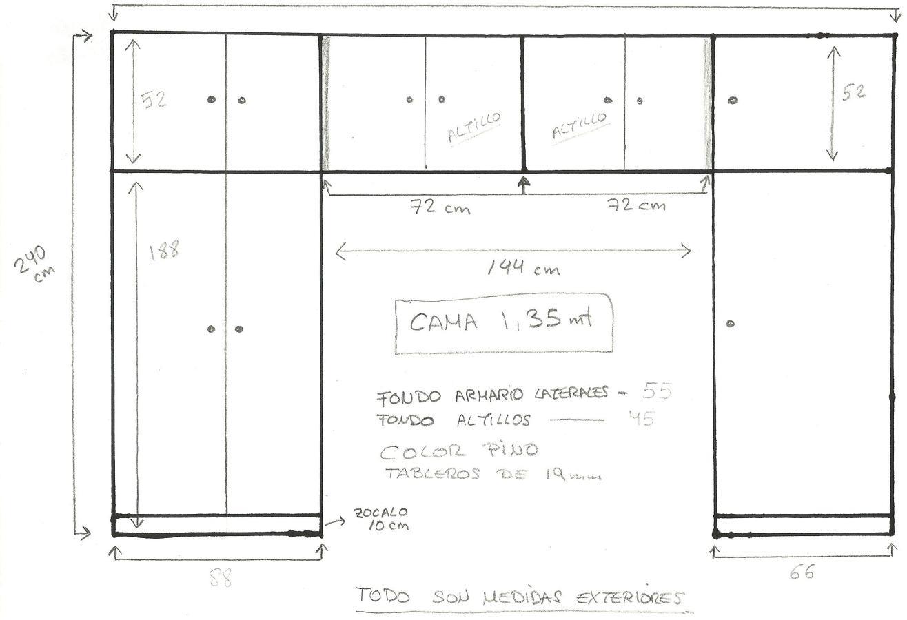 Hacer armario a medida madrid madrid habitissimo - Medidas de un armario ...