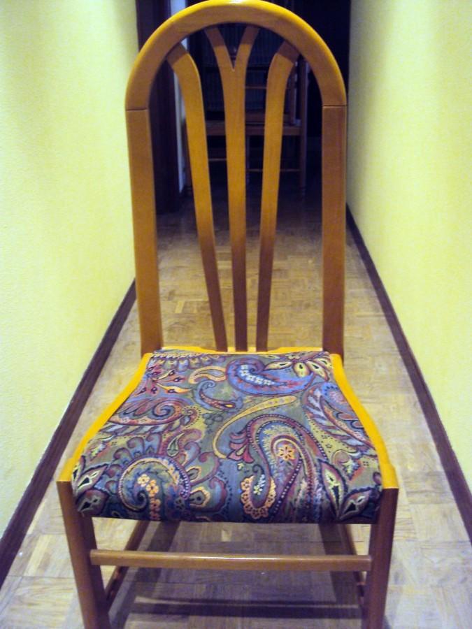 Tapizar 6 sillas para el salon oviedo asturias - Presupuesto tapizar sillas ...