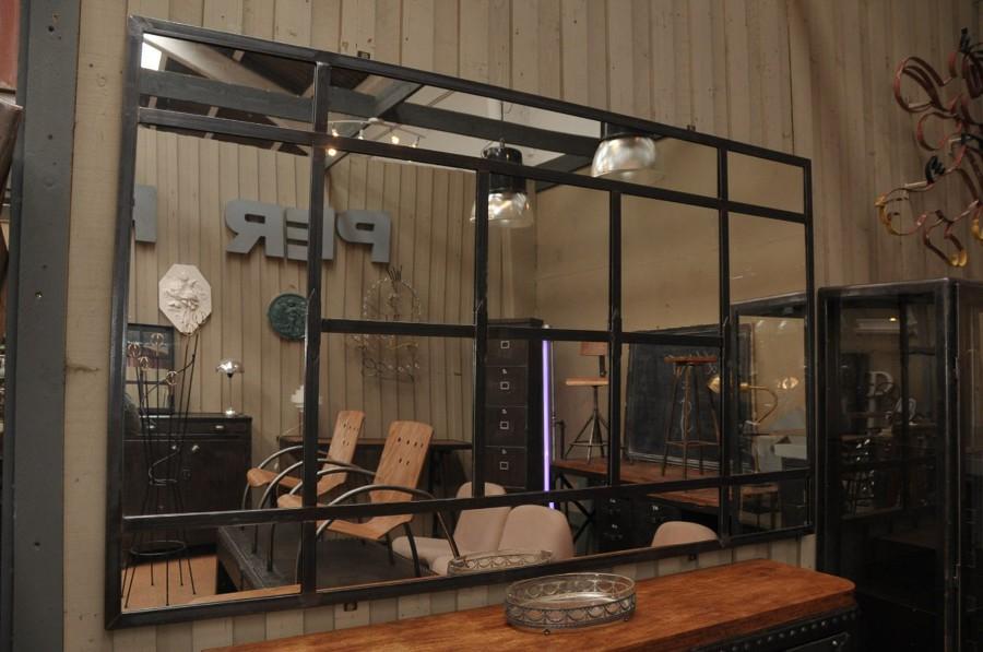 Fabricar un espejo con estructura de metal estilo for Espejo estilo industrial