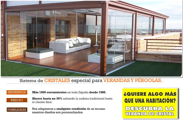 Cerramiento aluminio con cortina acristalada for Cierres de aluminio para terrazas