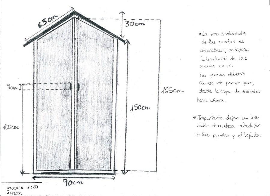 Armario de madera de pino para terraza exterior - Armarios de terraza ...