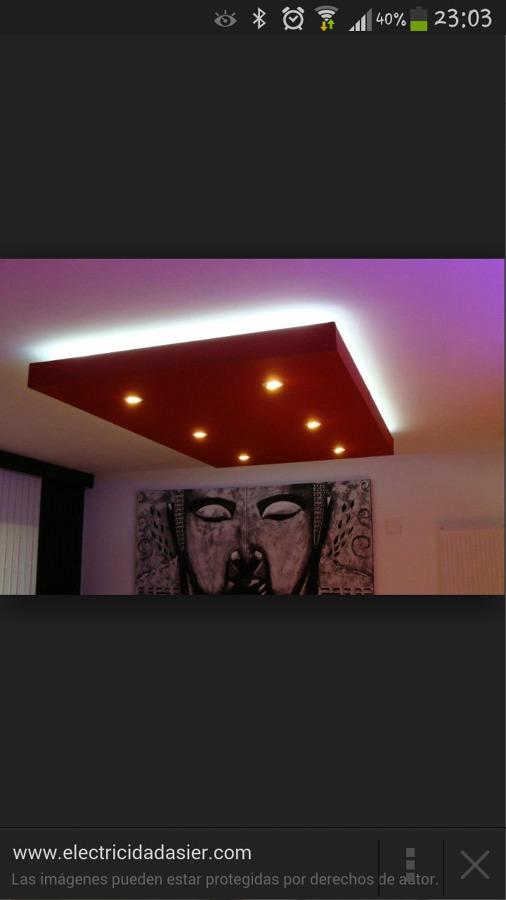 Falso techo pladur con iluminacion led madrid madrid - Iluminacion led techo ...