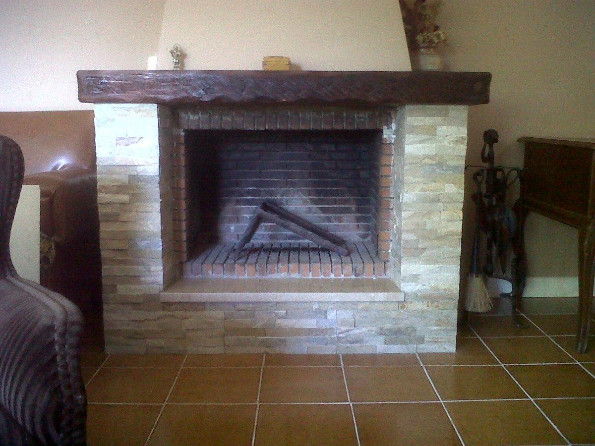 Colocar puerta a una chimenea de obra la venta asturias - Como hacer una chimenea de obra ...