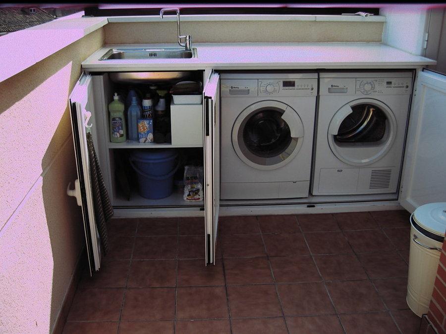 Casas cocinas mueble armario lavadora - Armario lavadora exterior ...