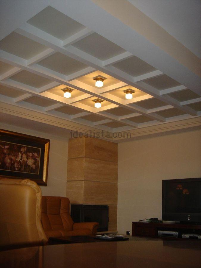 Poner techo de escayola en sal n con iluminaci n led for Iluminacion led salon