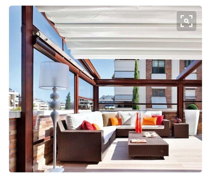 Lona y rieles para toldo terraza les corts barcelona for Presupuesto toldo terraza