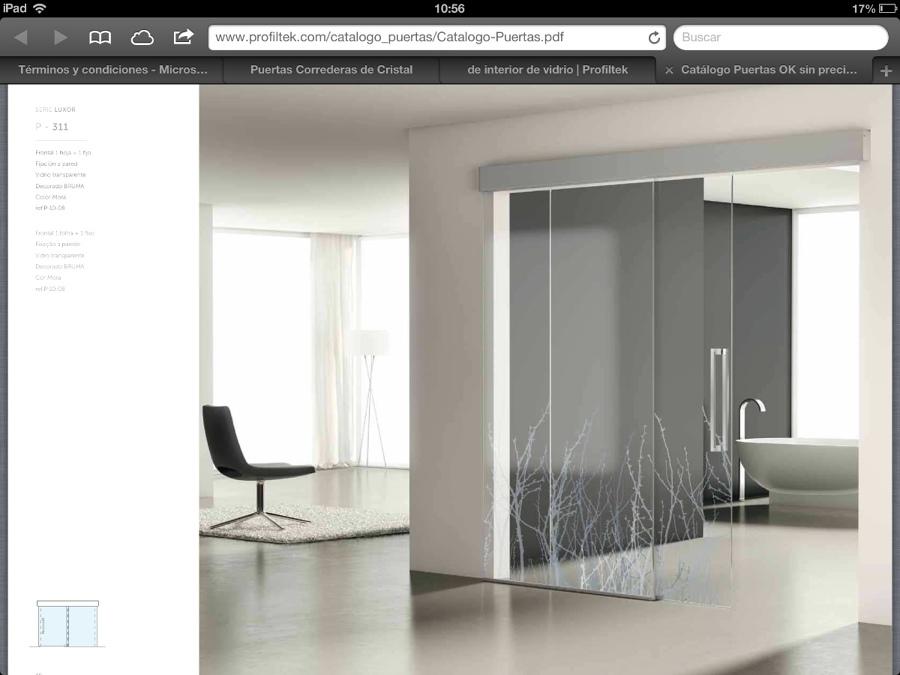 Precio de instalar puerta de aluminio blanco y cristal - Puertas correderas precio ...