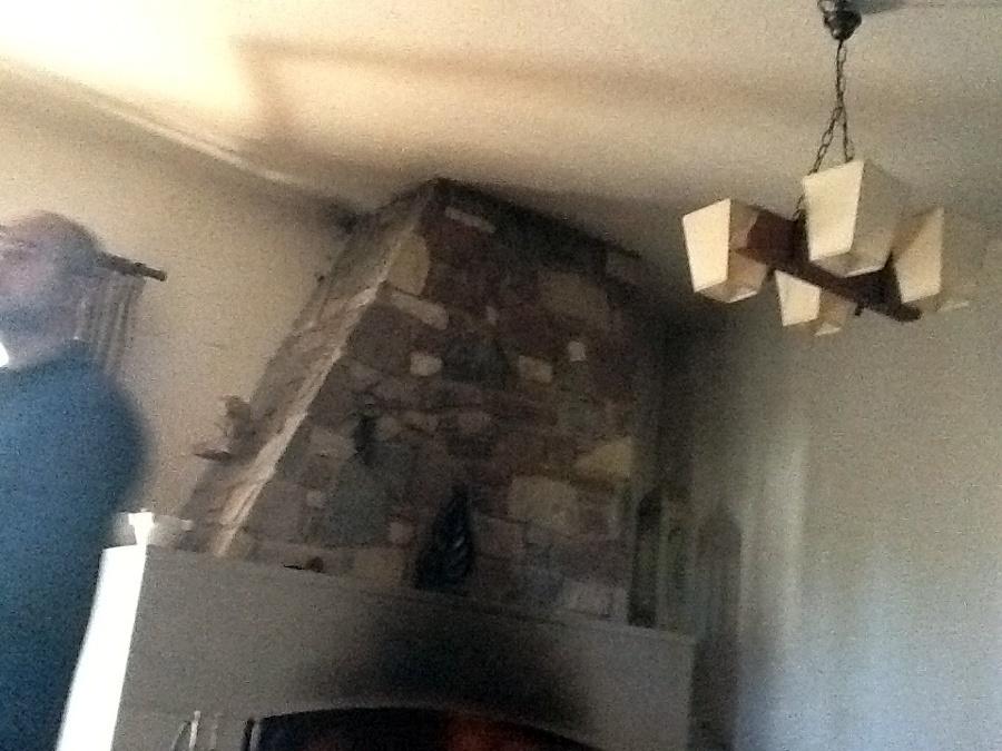 Alisar paredes y bajar techo insertando focos caldes - Alisar paredes de gotele ...