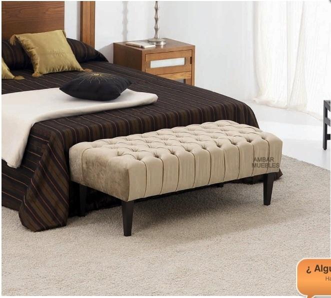 Banco pie de cama tapizado mi o a coru a habitissimo for Bancos para pie de cama