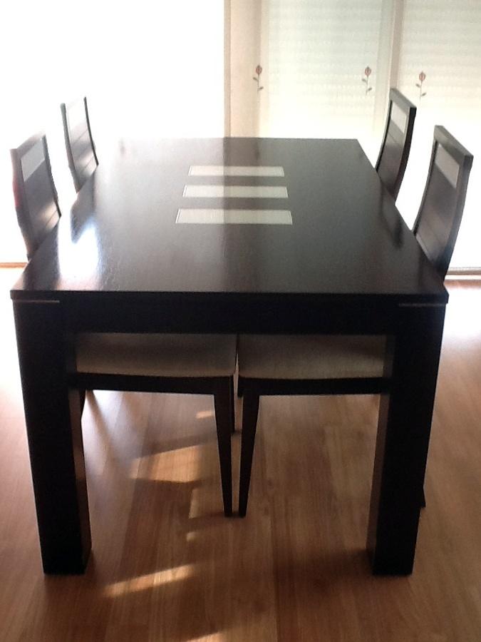Cambiar color de mobiliario de wengue a color blanco - Lacar una mesa ...