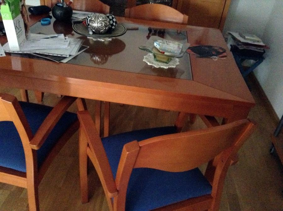 Pintar y tapizar cuatro sillas y una mesa comedor tres - Presupuesto tapizar sillas ...