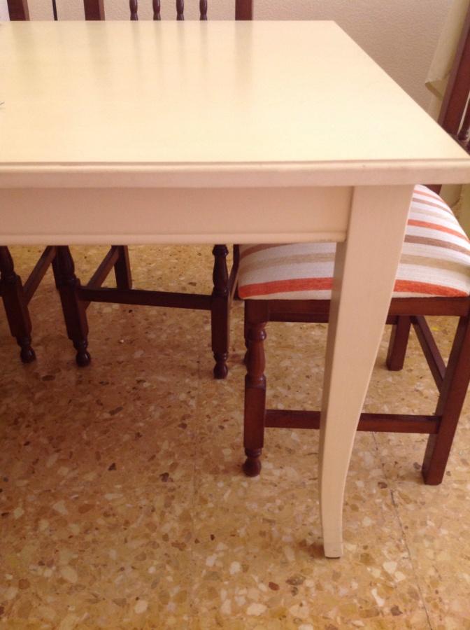 Lacar mesa de comedor extensible a 2 metros y vitrina - Lacar una mesa ...