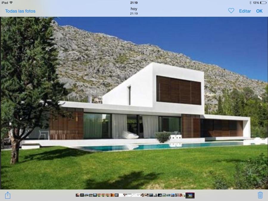 Casa cubica blanca moderna en rubi san mu rub - Presupuesto casas prefabricadas ...