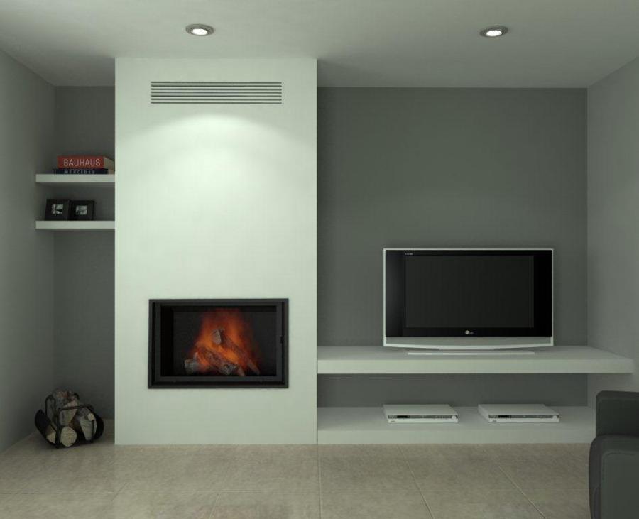 Soporte para insertable de chimenea mueble tv sant for Mueble con soporte para tv