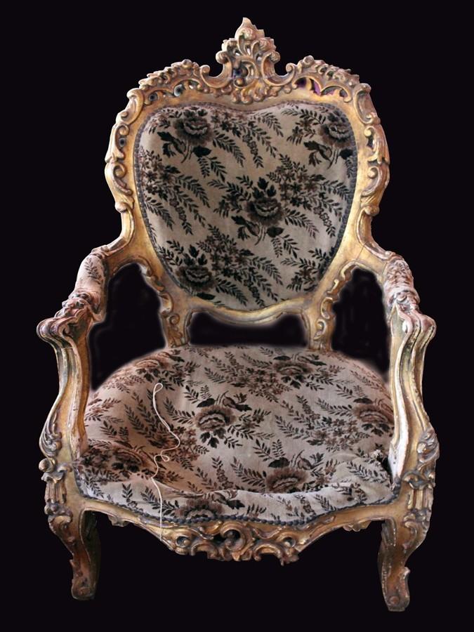 Restauraci n tapicer a sillones antiguos motril granada for Sillones antiguos tapizados