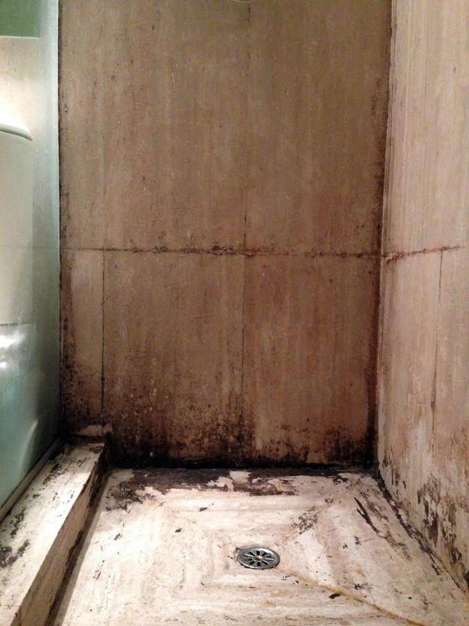Cubrir las paredes y el suelo de dos duchas con gresite - Suelo hormigon pulido precio ...