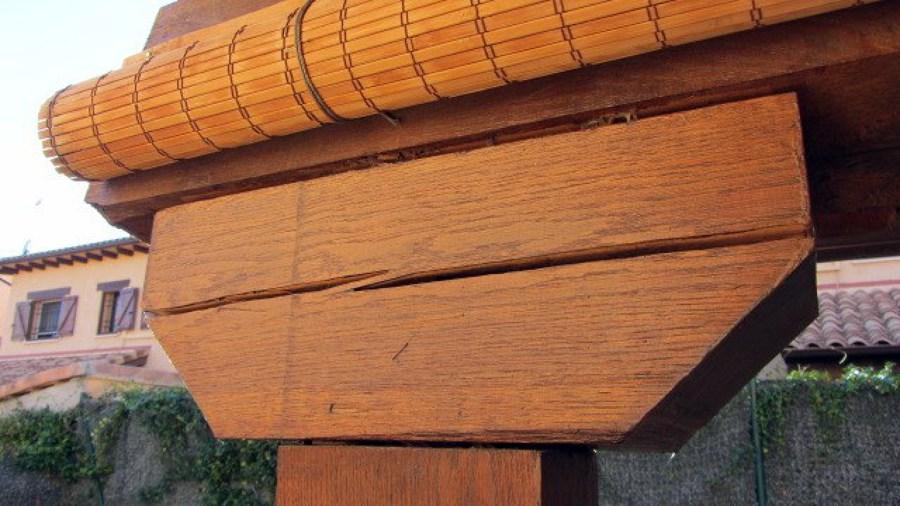 Reparar grietas y vigas de madera de un porche - Reparar madera ...