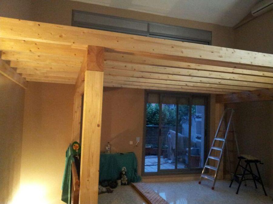 Cerrar altillo de madera habitacion en buhardilla - Construir un altillo ...