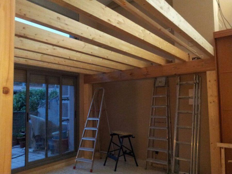 Cerrar altillo de madera habitacion en buhardilla - Altillo de madera ...