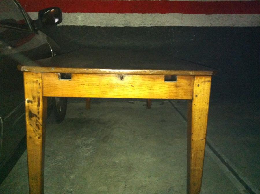 Restaurar antigua mesa cocina de madera sabadell for Mesa madera antigua