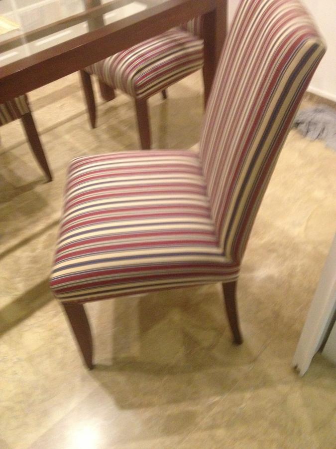 Tapizar un sill n tres sillas y hacer fundas en loseta para 6 sillas de comedor valencia - Precio tapizar sillas ...