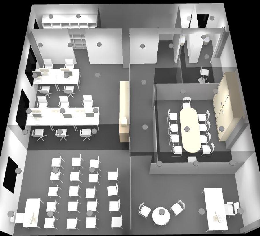 Hacer oficinas de 106 m2 nuevas crta biar villena for Muebles oficina 3d gratis
