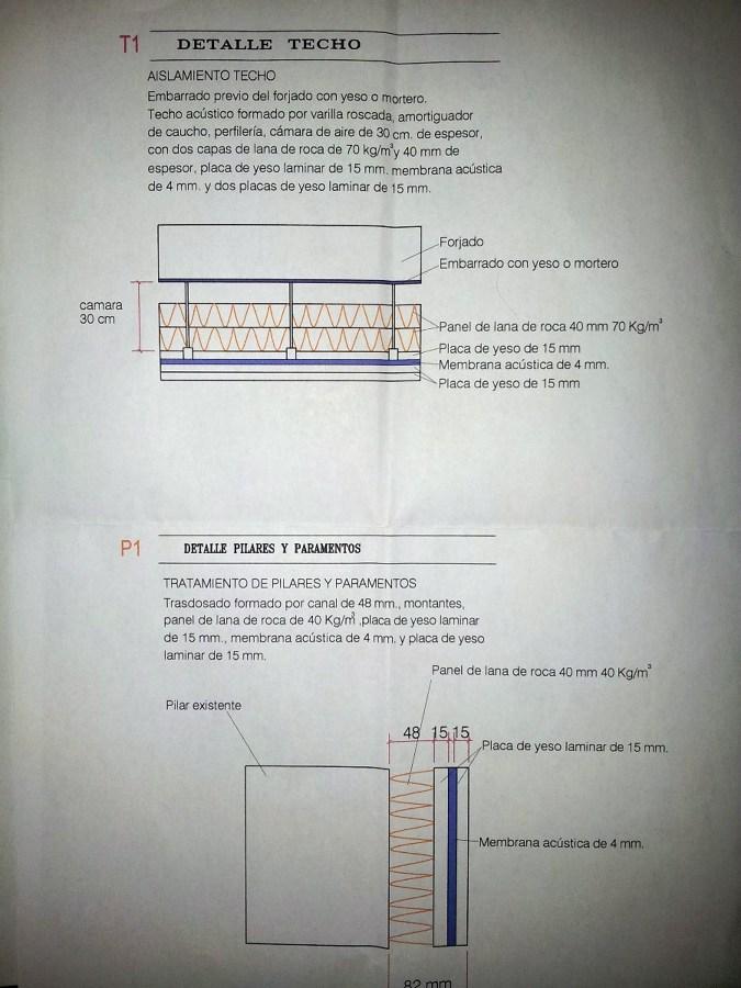 Insonorizar local de 69 m2 techo y una pared estepona - Materiales para insonorizar ...