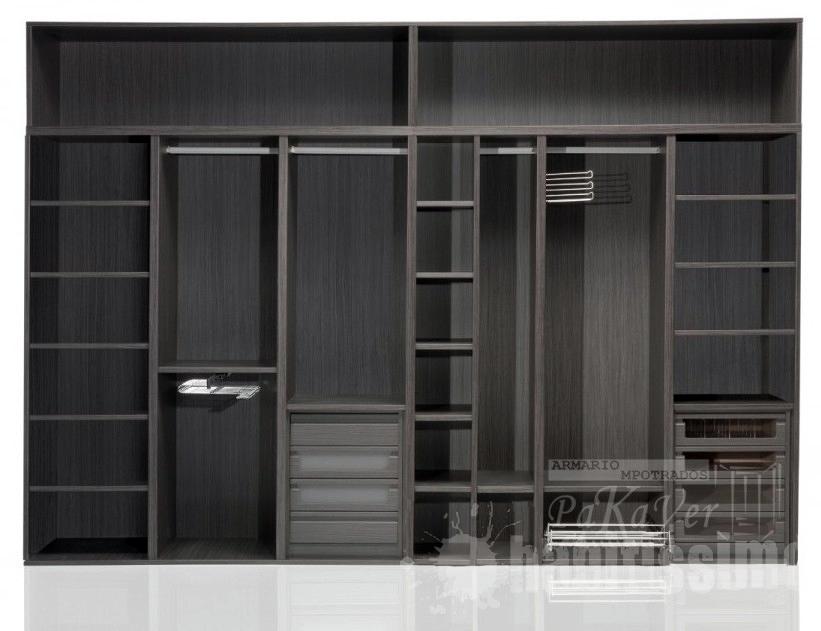 Interiores de armarios con puertas correderas for Armario fondo 50