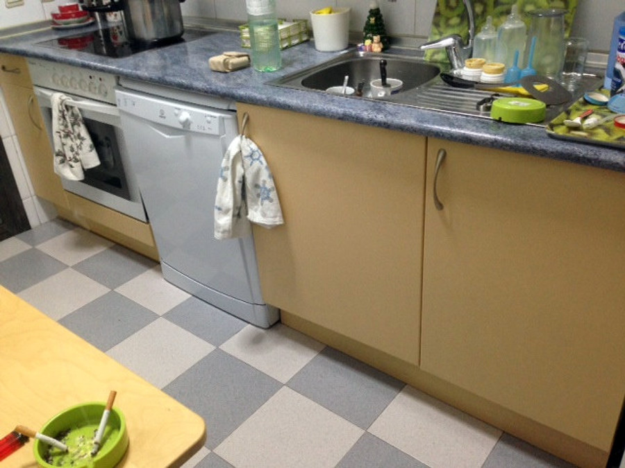 Pintar mueble cocina y cambiar encimera madrid madrid - Pintar encimera cocina ...