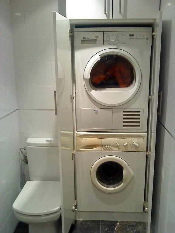 Que os parece el armario que he puesto en casa off - Secadora encima lavadora ...
