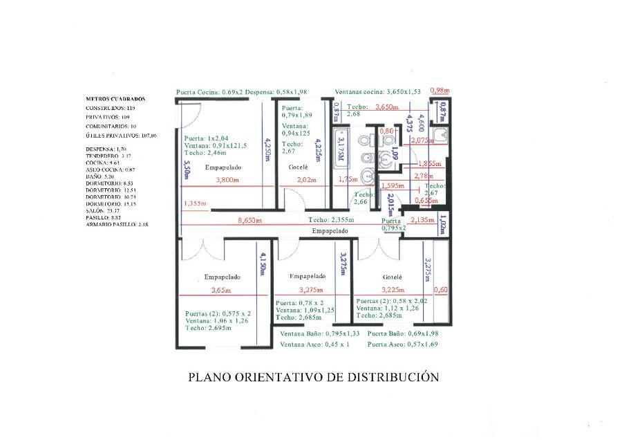 Reforma integral vivienda 107 m2 madrid madrid for Precio m2 reforma integral