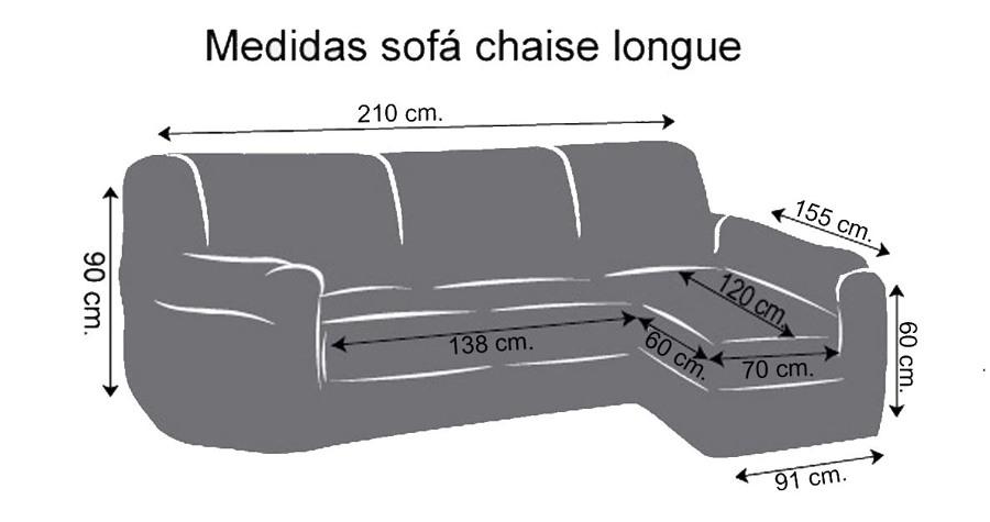 Funda sofa chaise longue sabadell barcelona habitissimo for Medidas sofa cheslong
