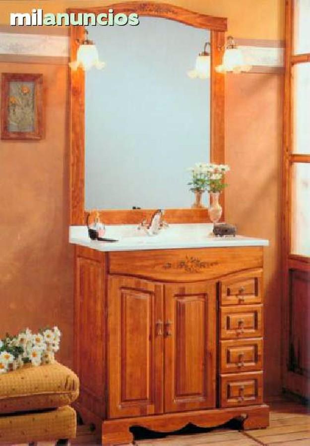 Muebles De Baño Rusticos Zaragoza : Mueble ba?o rustico madera con encimera zaragoza