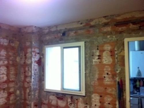 Reforma cocina alicatado solado y techo de pladur - Alicatar encima de azulejos ...