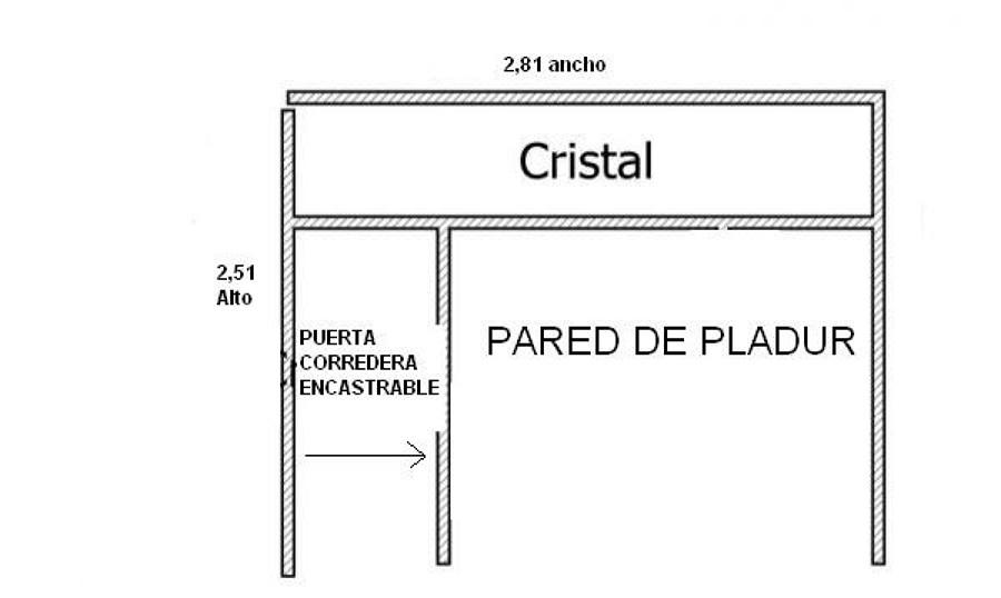 Tabique de pladur con puerta corredera encrastable - Precios de pladur ...