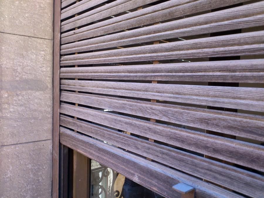 Realizar persiana de madera antigua madrid madrid - Persiana enrollable madera ...
