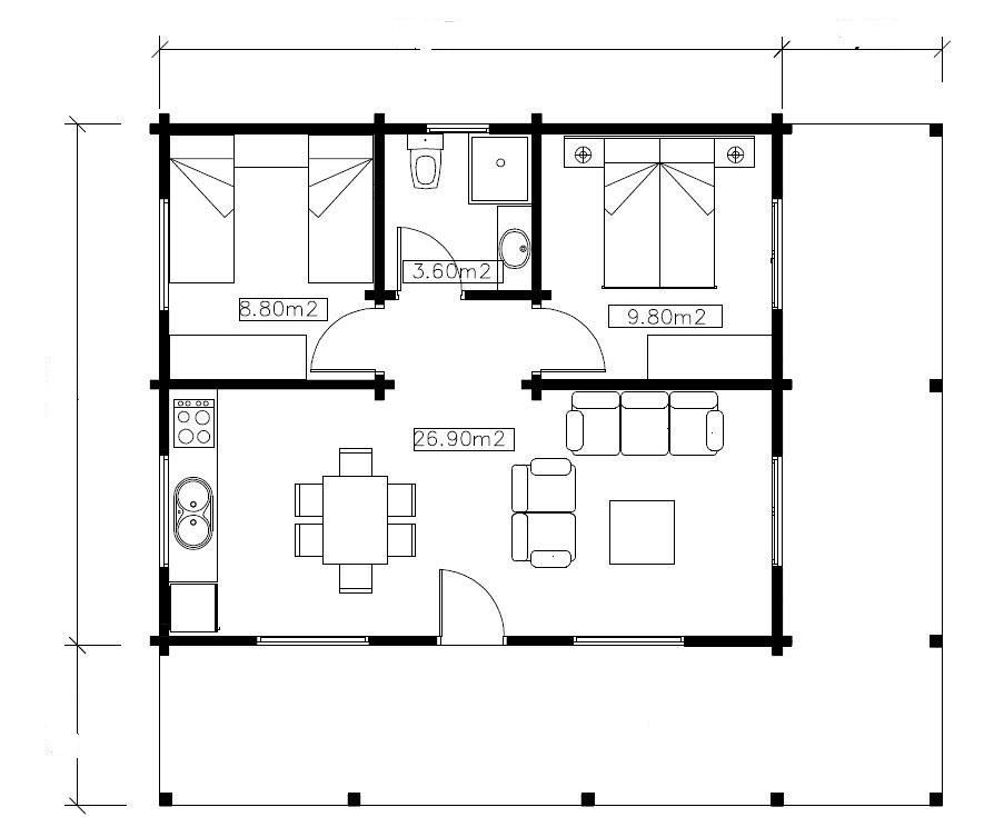 Modelos de casas de campo com planta tattoo design bild for Planos de casas chicas
