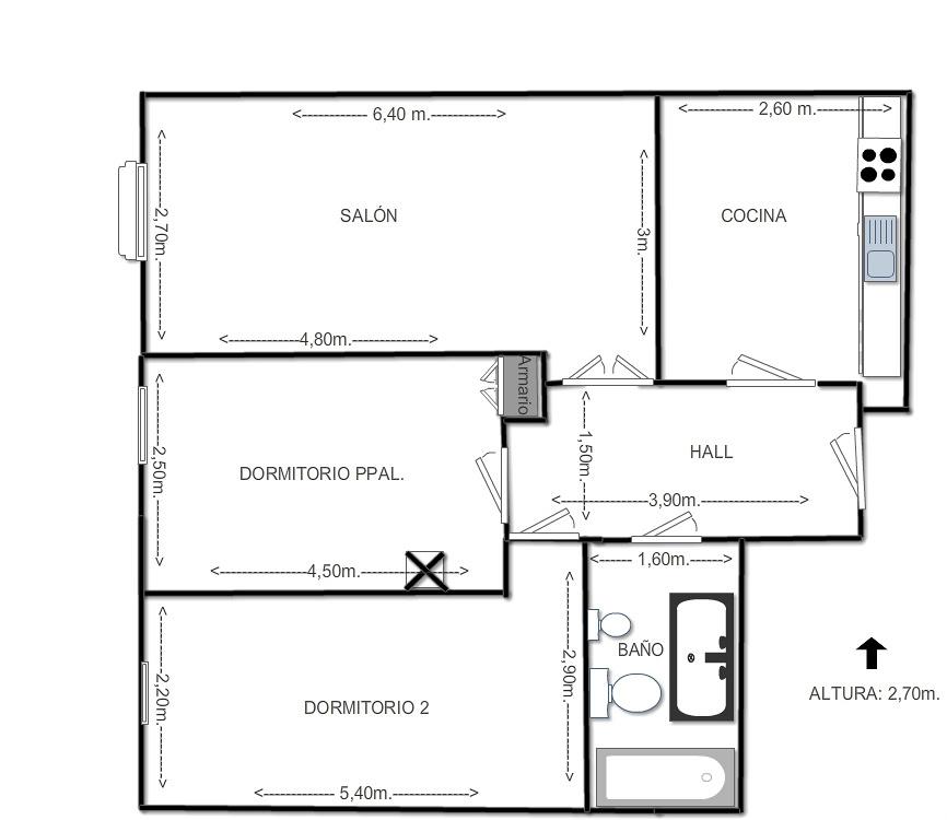 Reforma completa de vivienda de 60m2 valladolid for Precio de reforma por m2