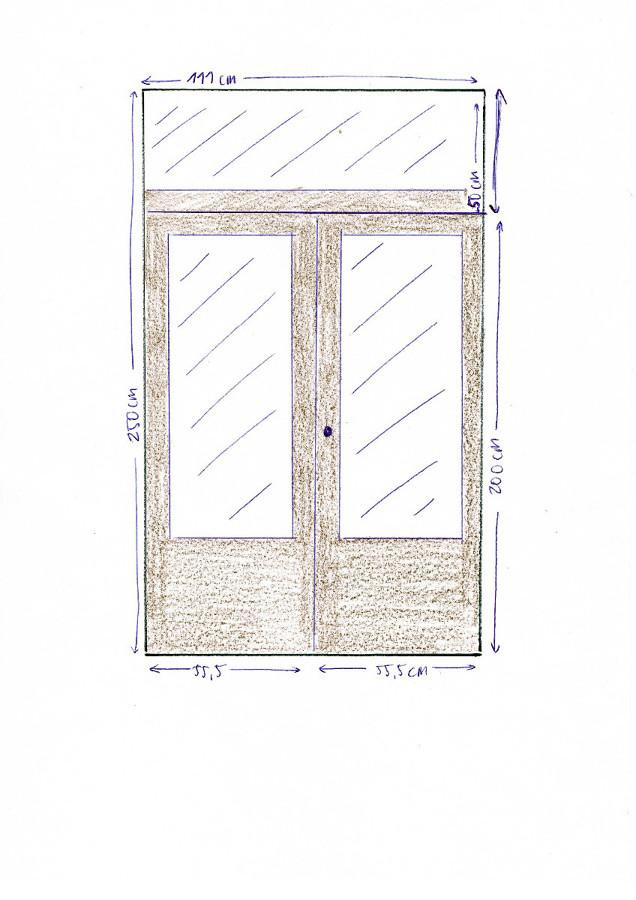 Construir e instalar puerta de madera y vidrio interior - Puertas madera barcelona ...