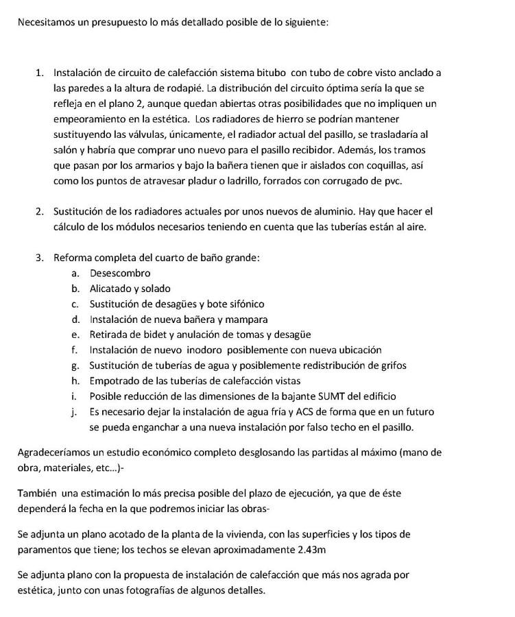 Circuito de calefaccion y reforma de ba o completa madrid madrid habitissimo - Presupuestos reformas banos ...