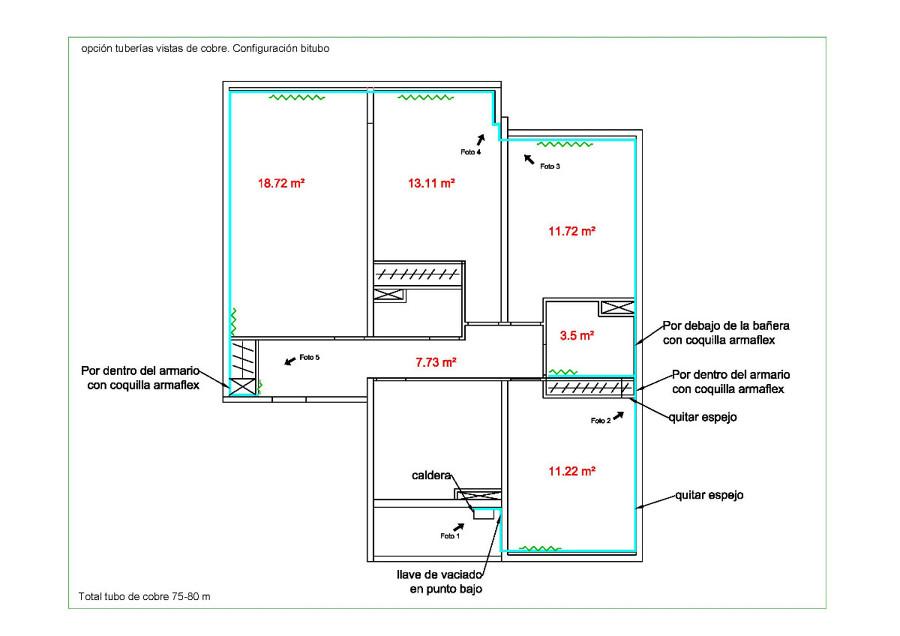 Presupuesto Baño Nuevo:Circuito de calefaccion y reforma de baño completa – Madrid (Madrid