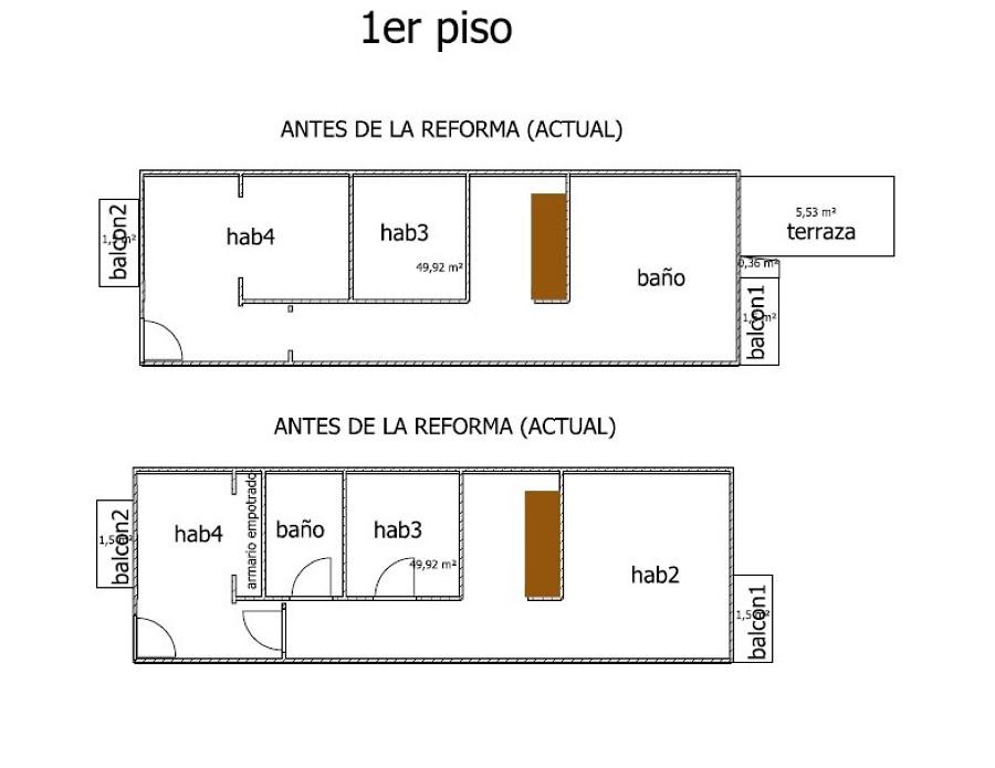 Reforma integral casa inglesa de 1900 de 2 plantas 100m2 for Precio reforma integral casa