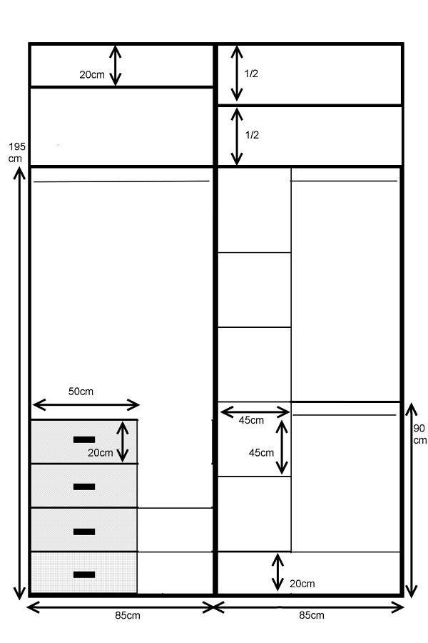 Armario empotrado de 2 puertas correderas estilo japon s 1 - Como vestir un armario ...
