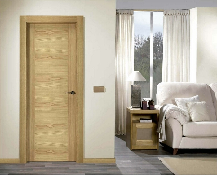 Puertas para ba o interior for Puertas de roble para interior