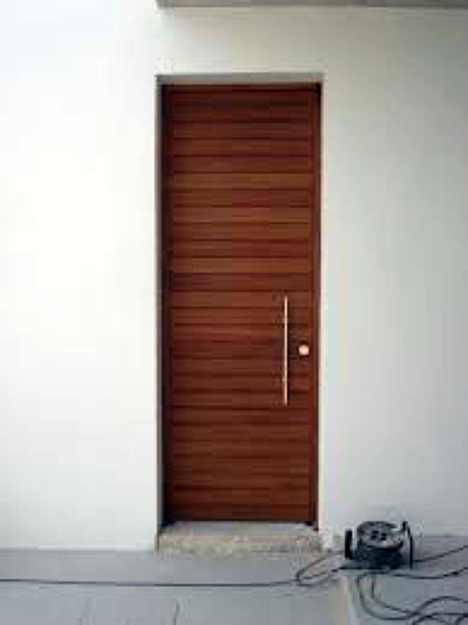 Puerta De Madera Iroko Exterior Para Casa Unifamiliar